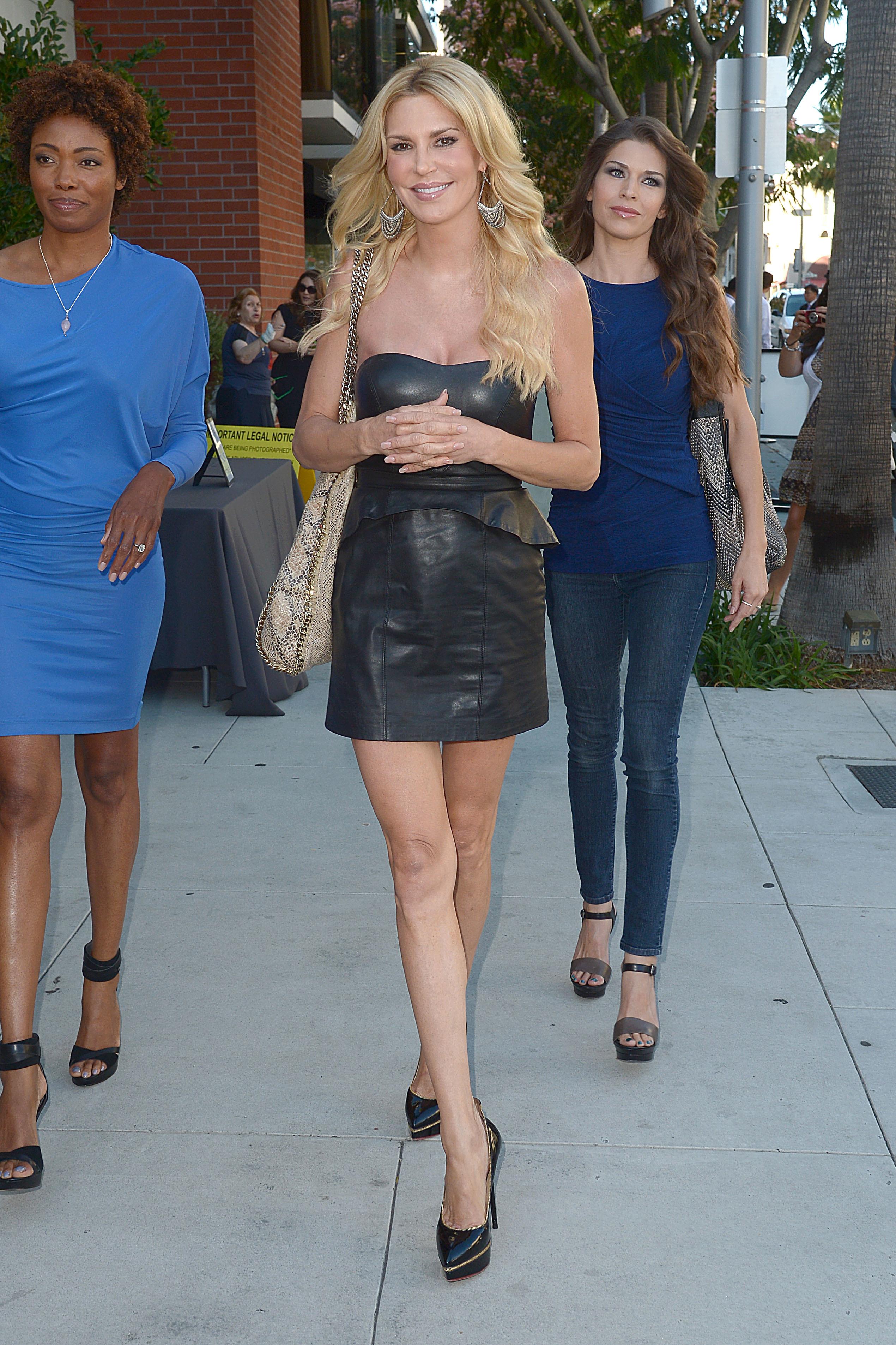 Brandi Glanville black leather dress