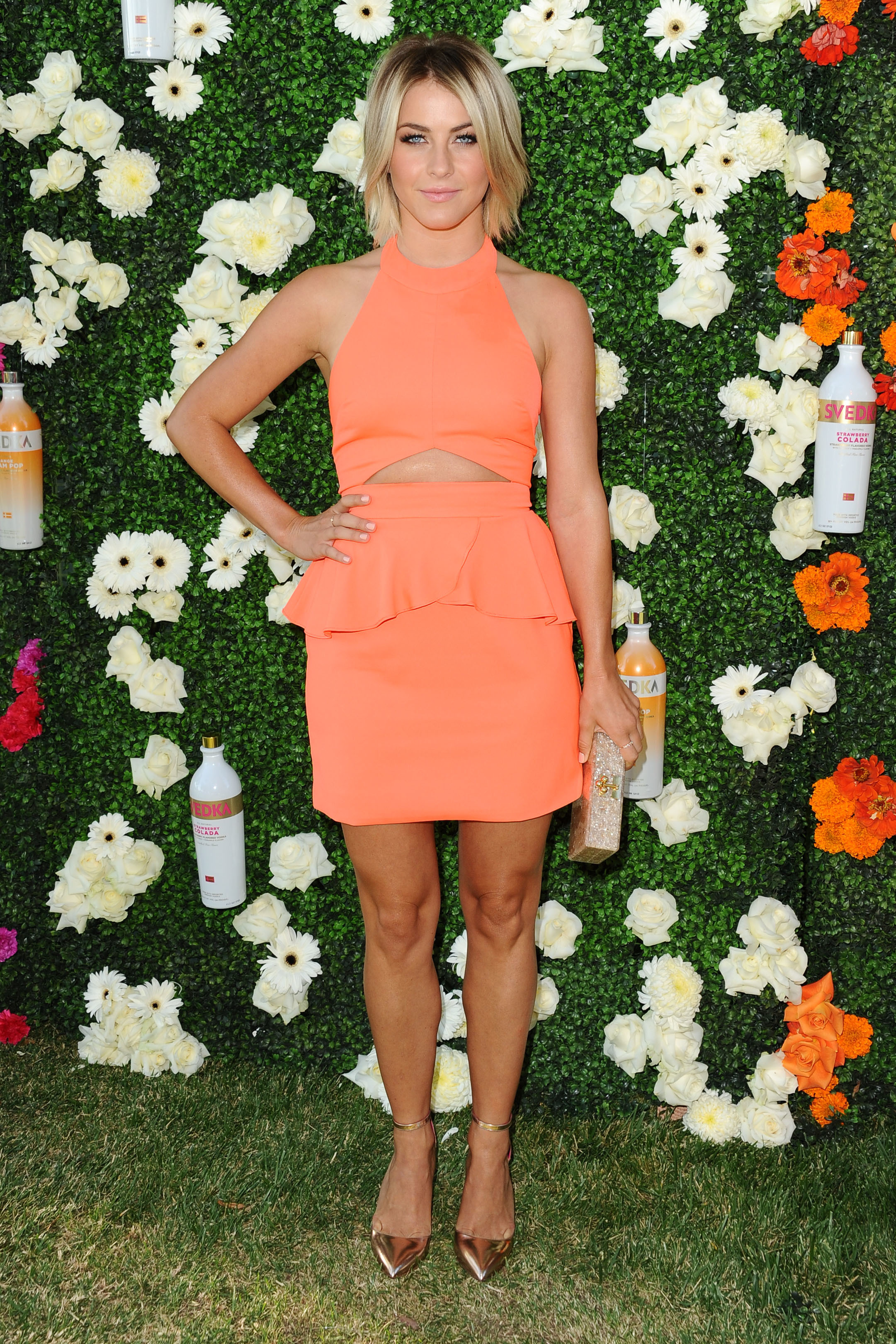 Julianne Hough orange dress