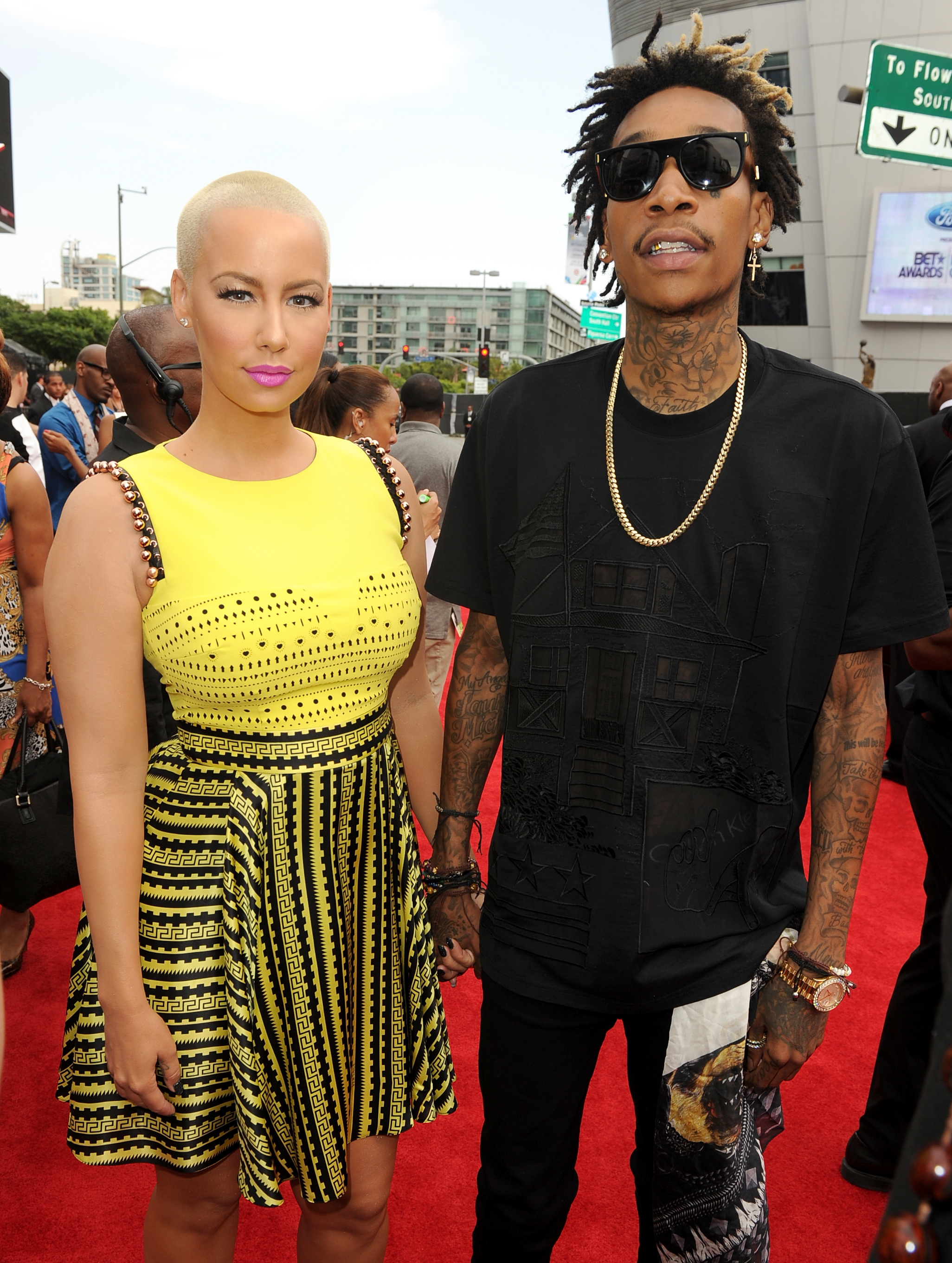 Amber Rose and Wiz Khalifa red carpet