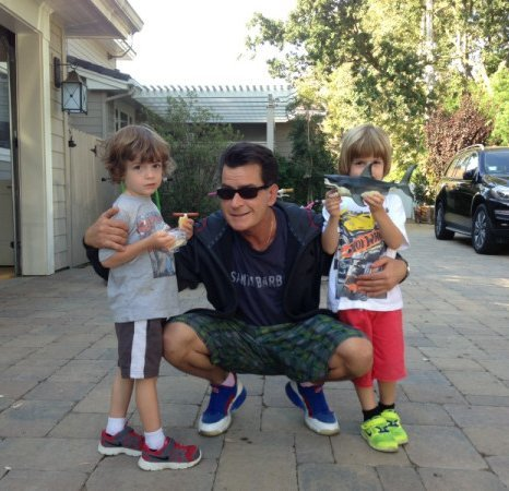 Charlie Sheen sons