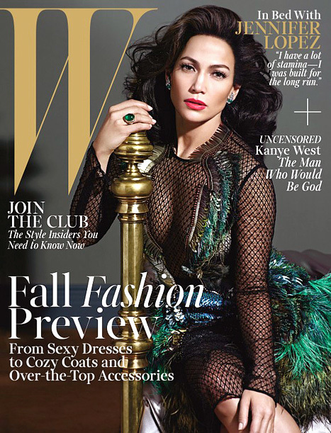 Jennifer Lopez W cover