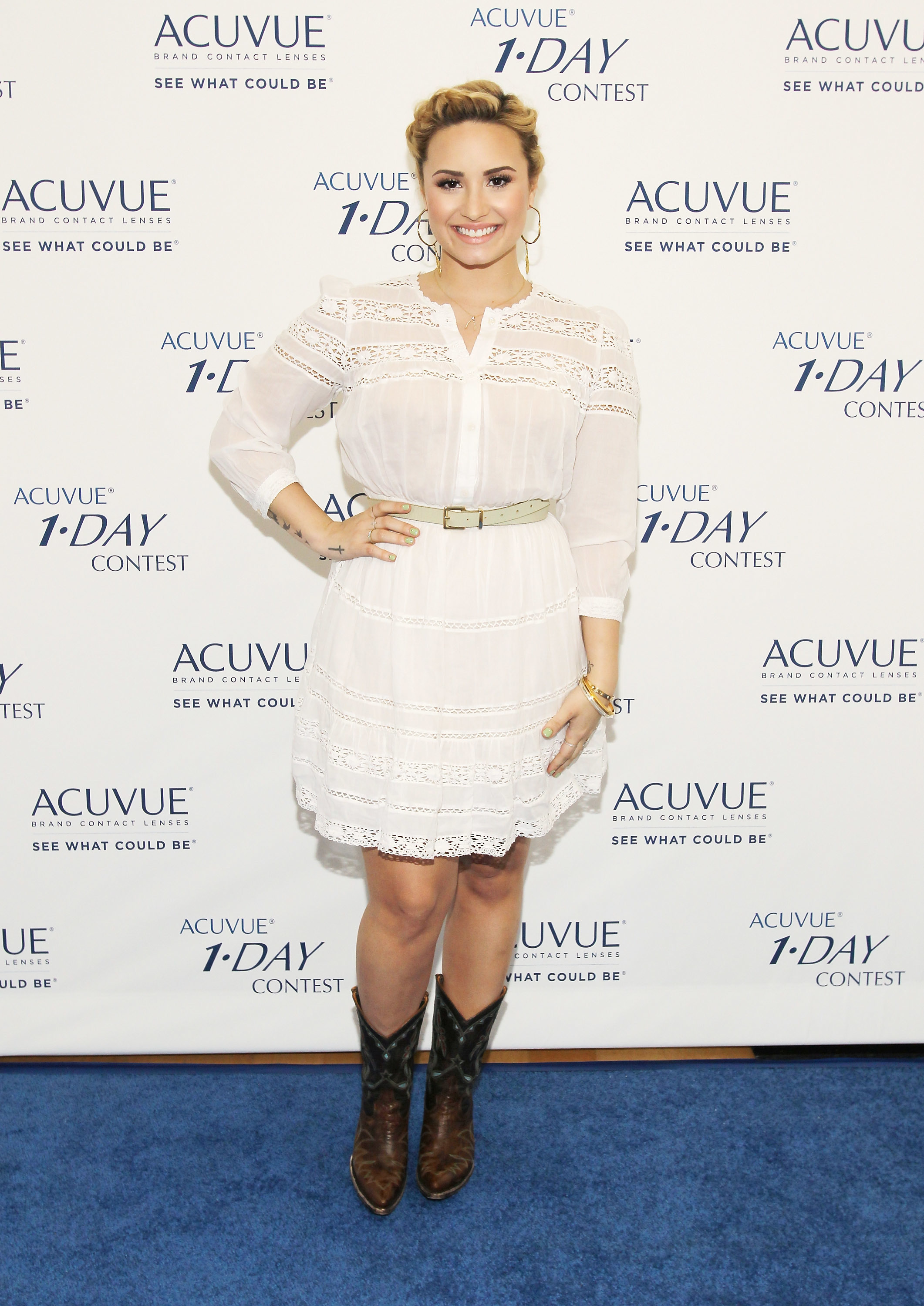 Demi lovato x factor heart attack acuvue contact lenses music