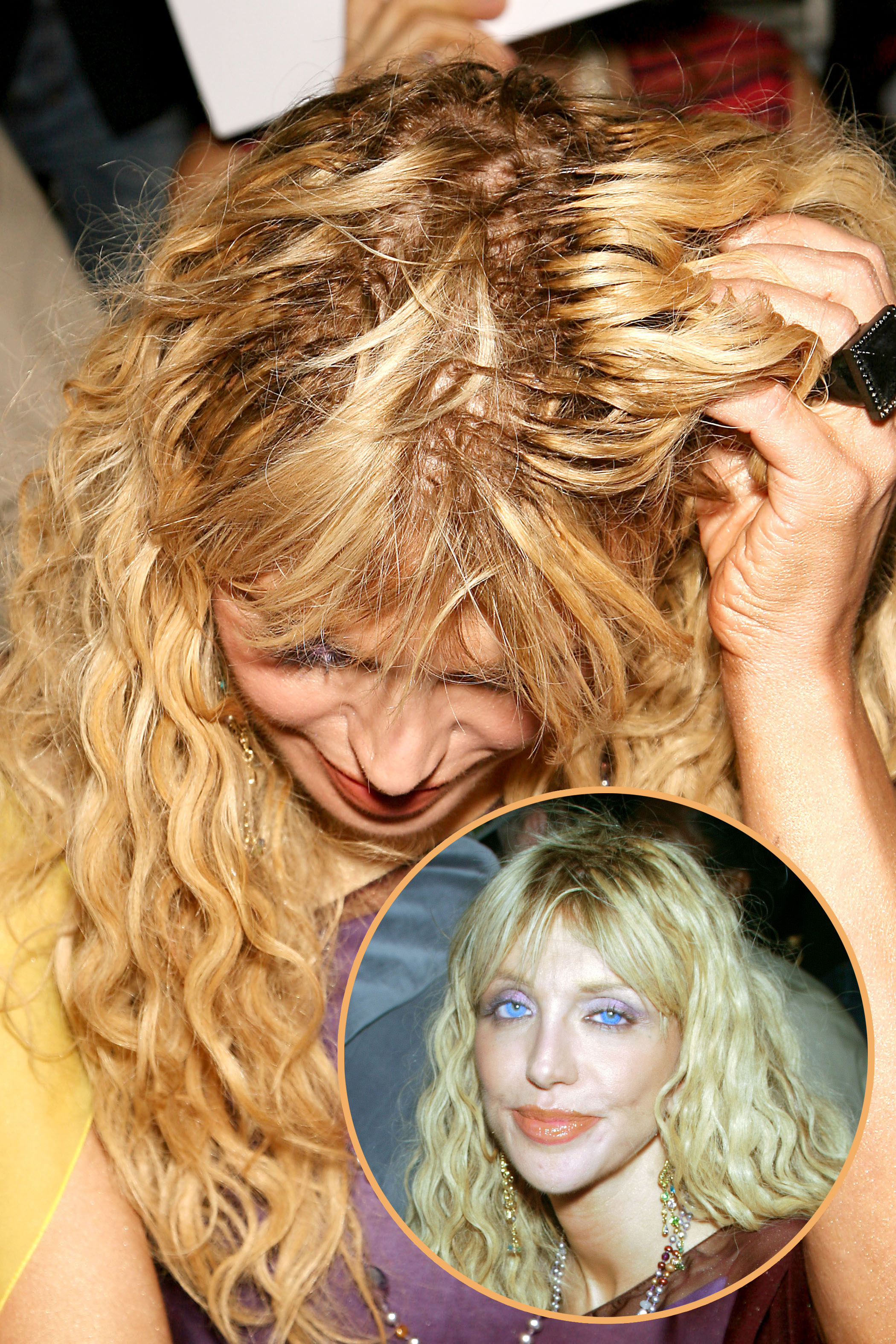 Courtney Love hair extensions