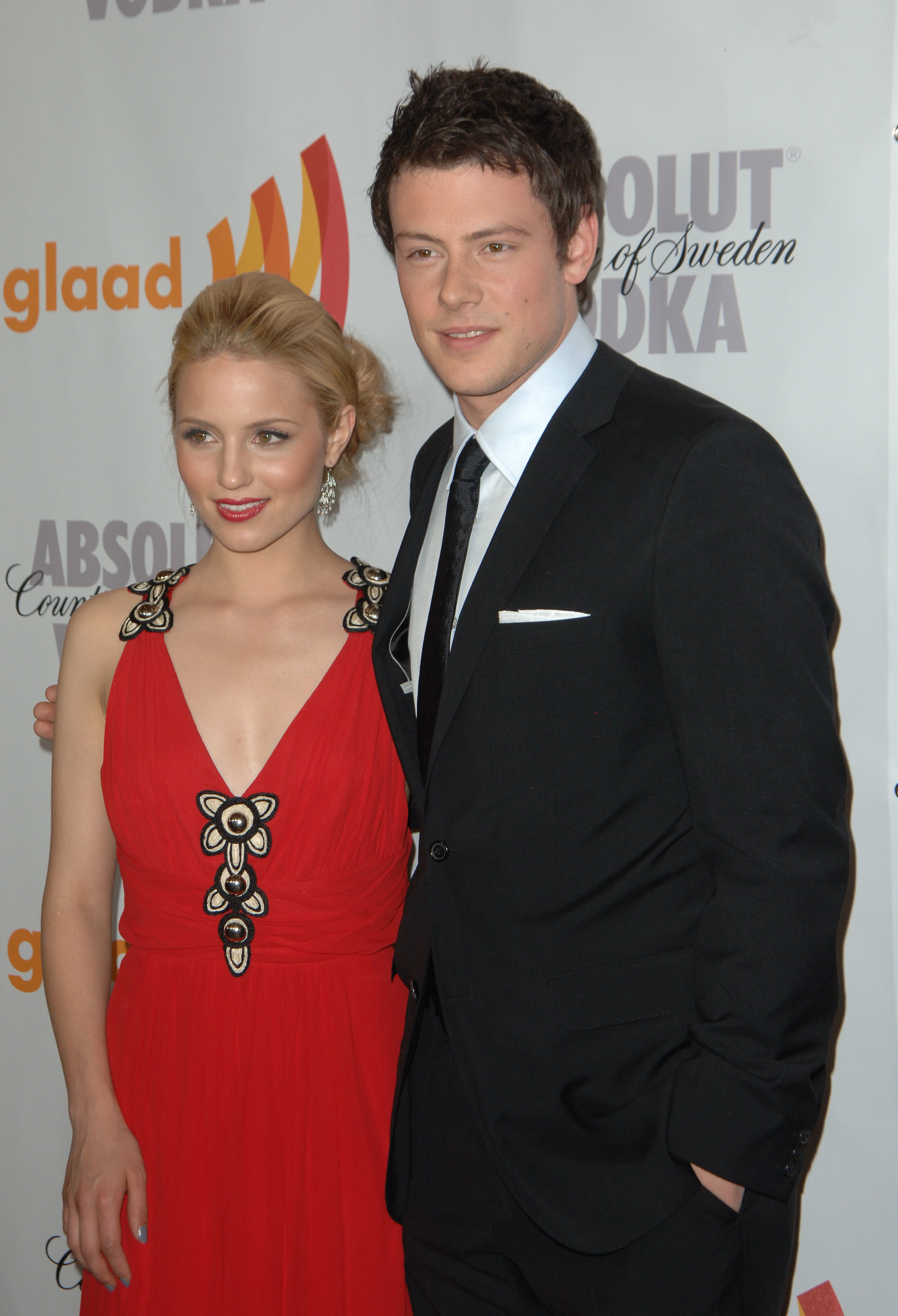 dianna agron cory monteith's death doesn't seem real