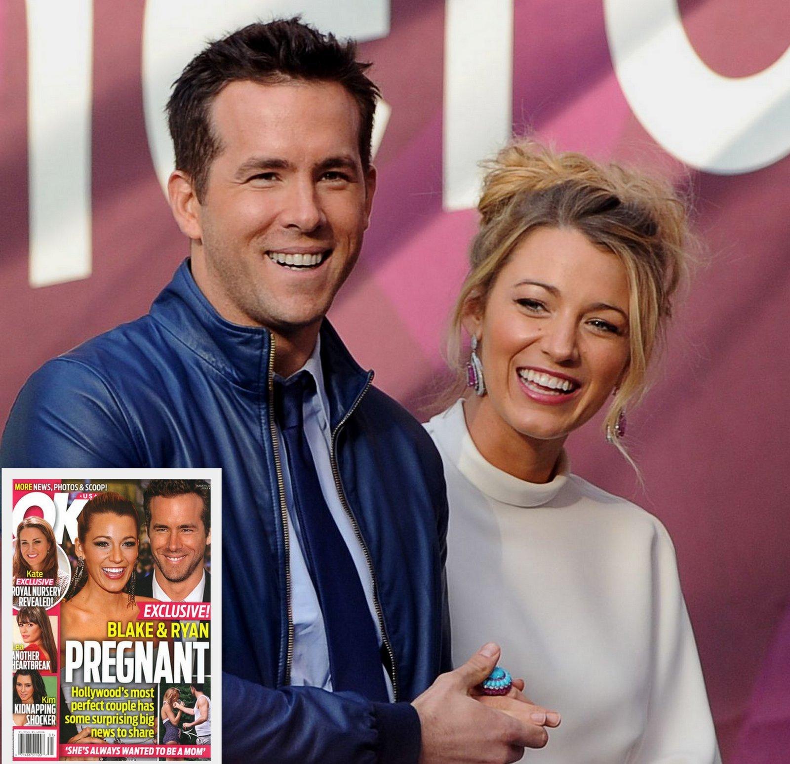 Ryan Reynolds Blake Lively pregnant