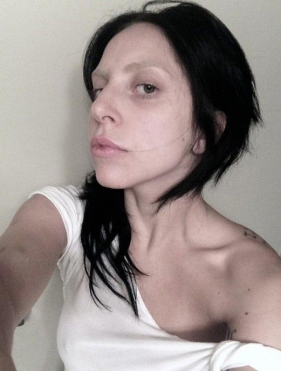Gaga black hair