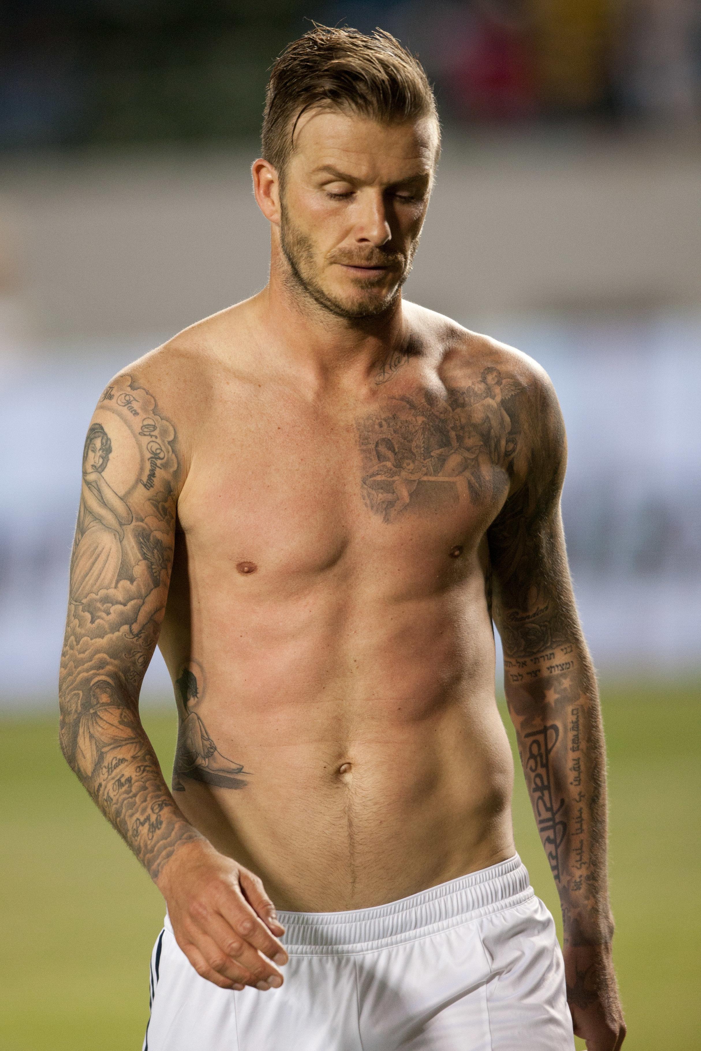 David Beckham abs