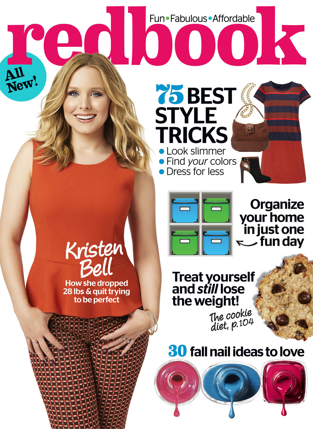 Kristen Bell post baby body busy career Redbook Veronica Mars Lincoln Dax