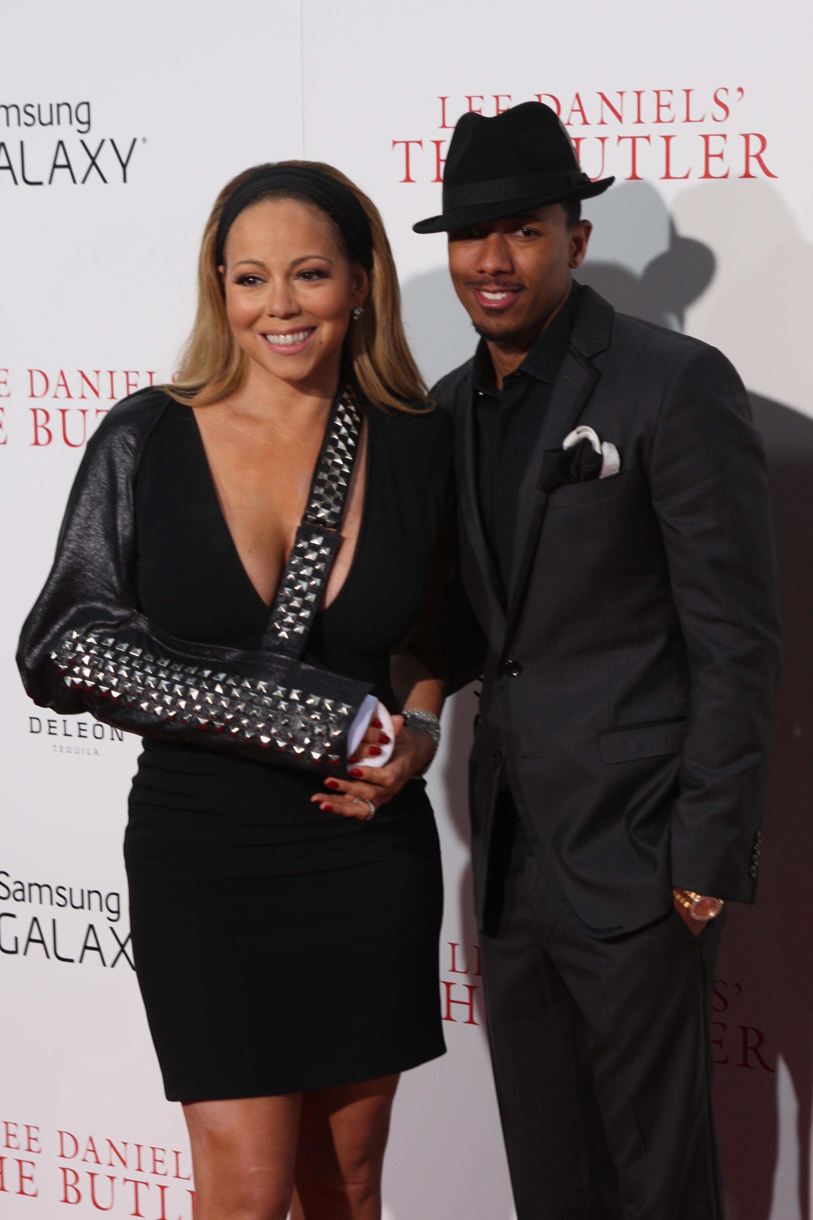 Mariah Carey leather sling