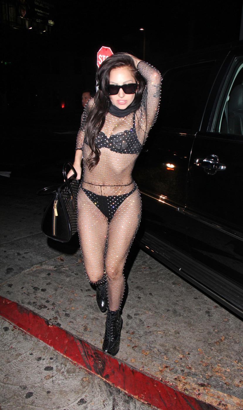 Lady Gaga thong