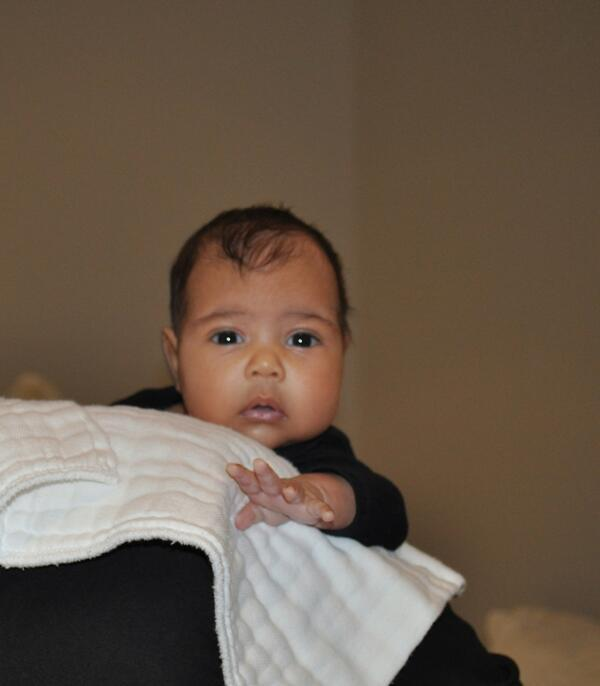kim kardashian kanye west north west baby picture photo