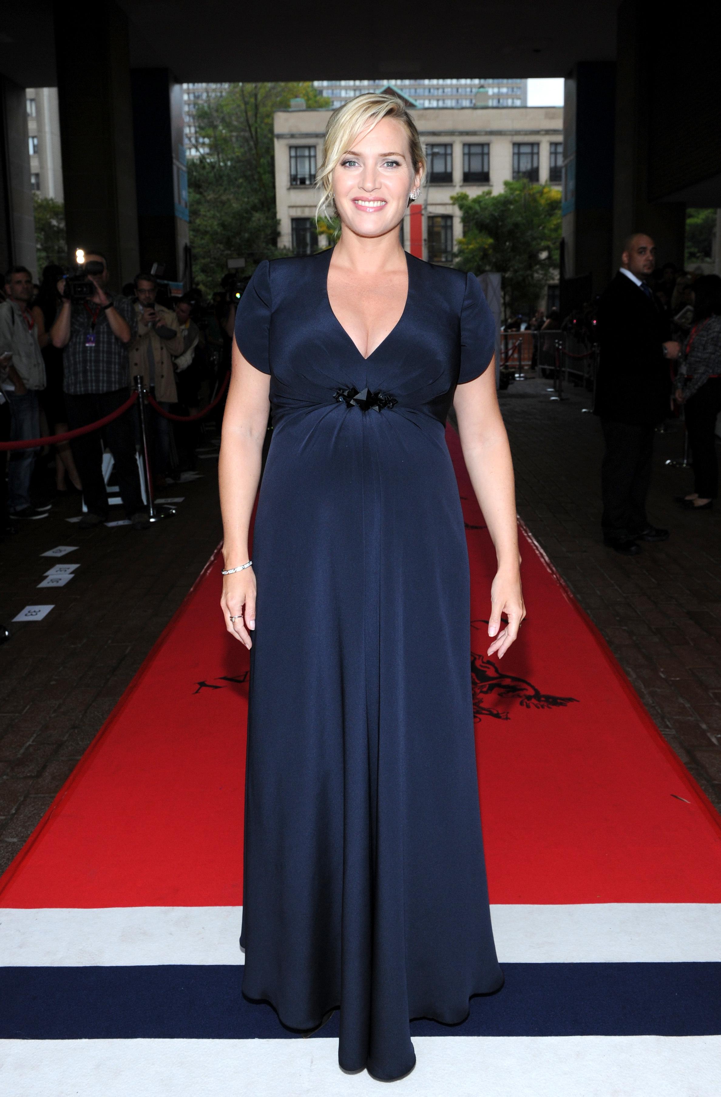 Kate Winslet toronoto film festival baby bump