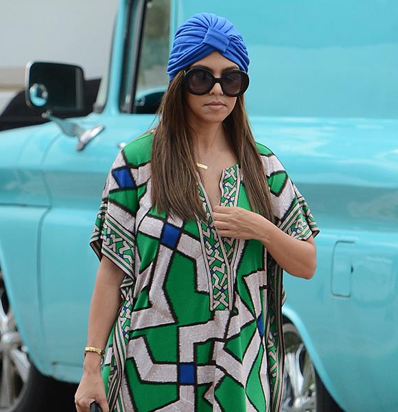 Kourtney Kardashian headscarf