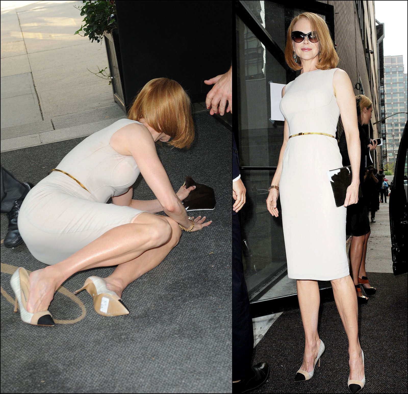 Nicole Kidman knocked down ground