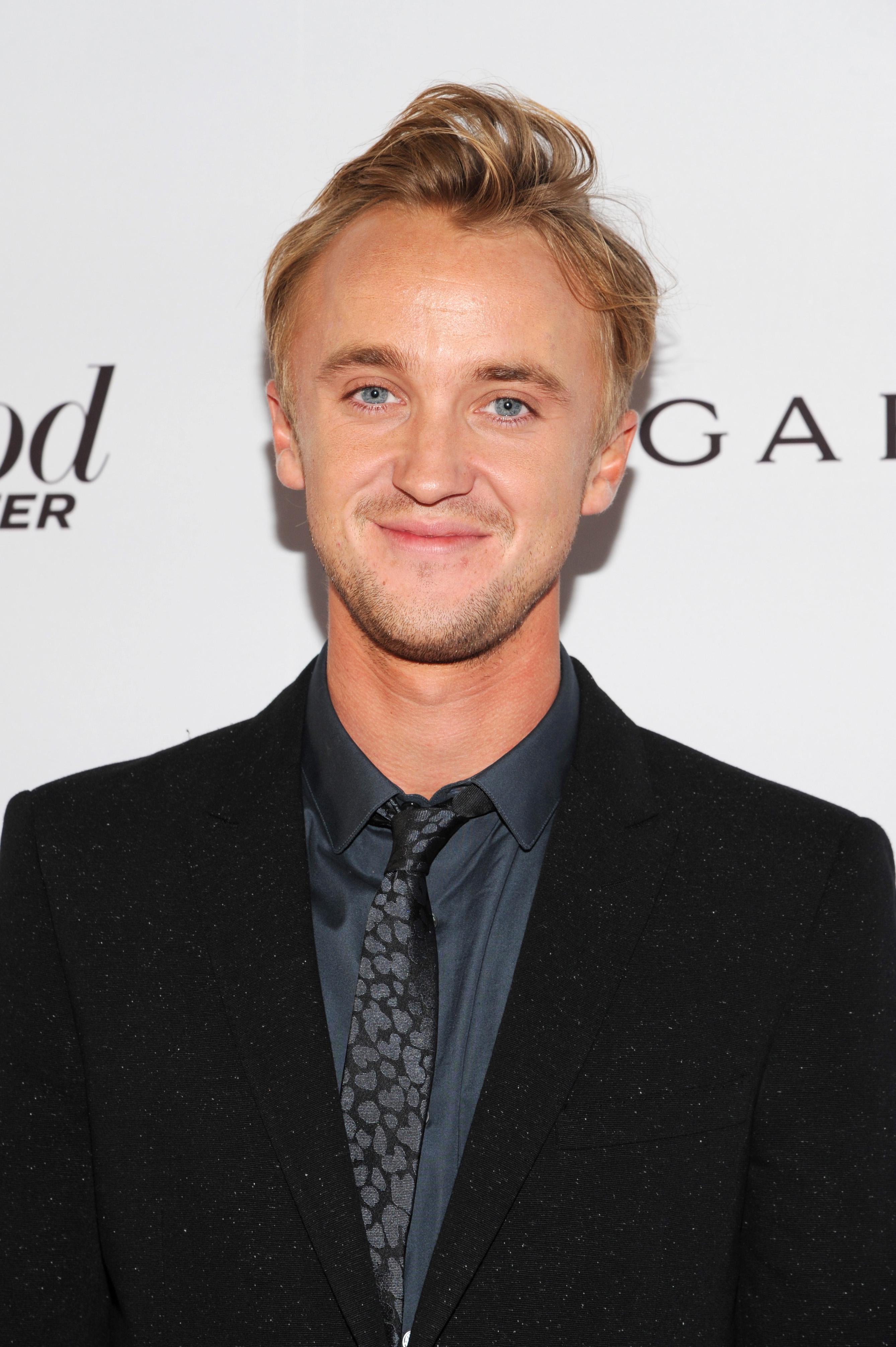 tom felton hair