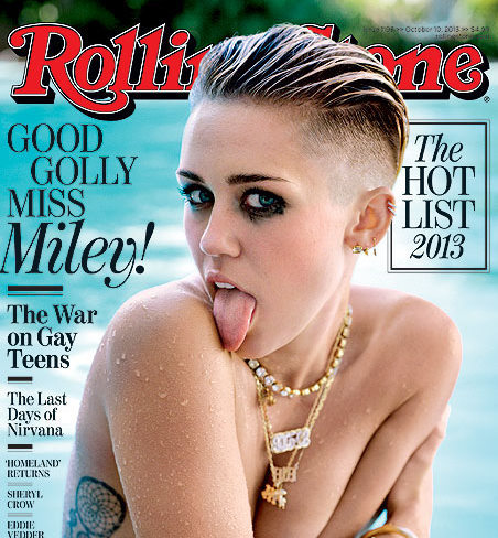 miley cyrus sticks her tongue out miley's tongue