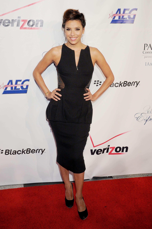 Eva Longoria black dress
