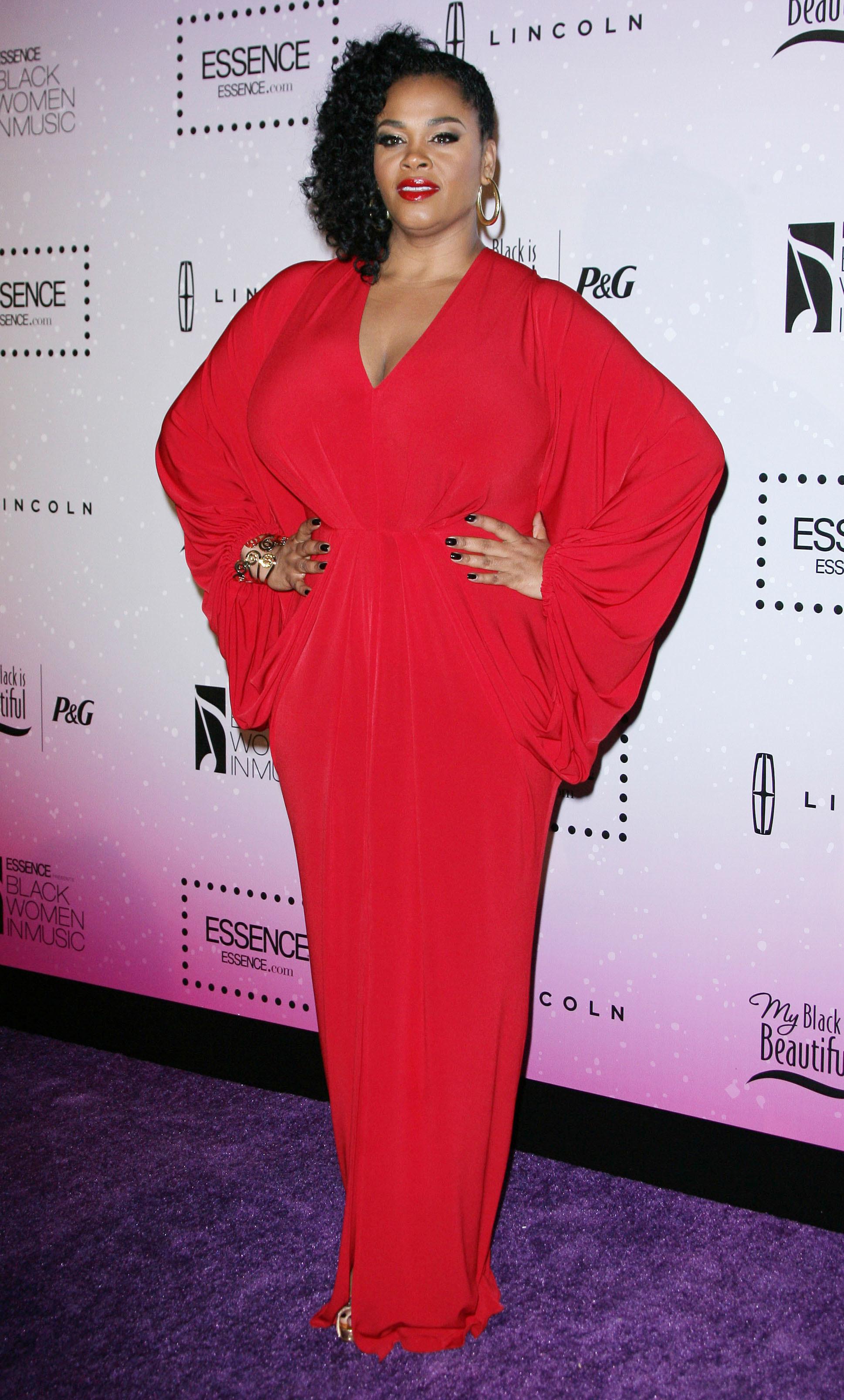 jill scott red gown
