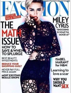 Miley Cyrus Fashion magazine