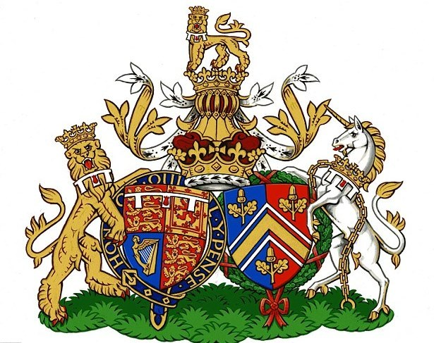 duchess kate prince william conjugal coat of arms