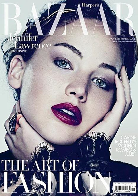 Jennifer Lawrence magazine cover