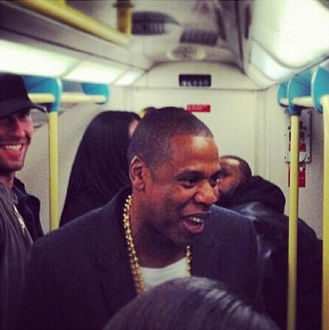 Jay Z Chris Martin London tube