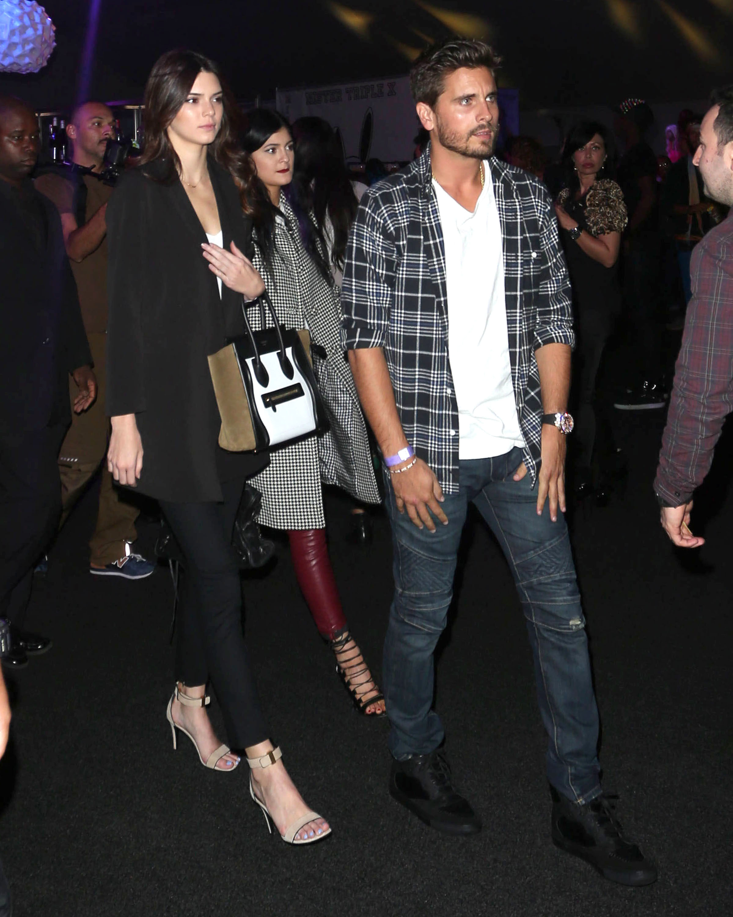 Kylie Jenner, Kendall Jenner and Scott Disick