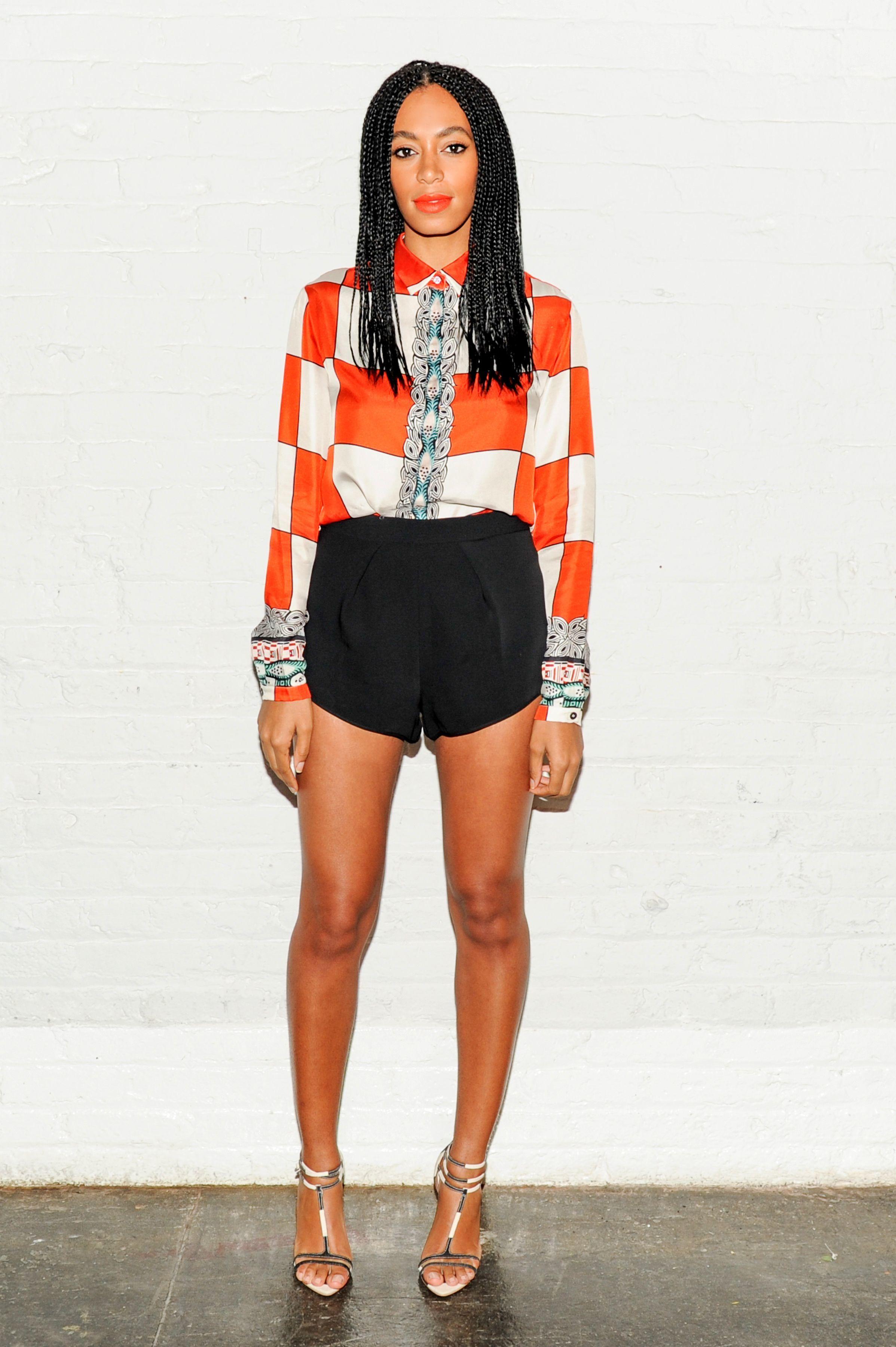 Solange Knowles short shorts