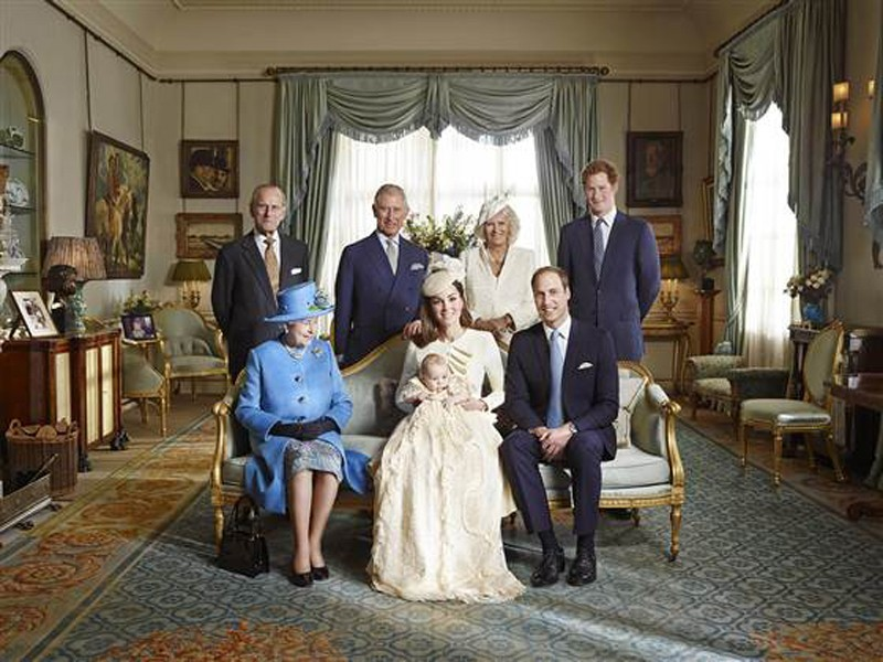 official christening photos royal family prince george