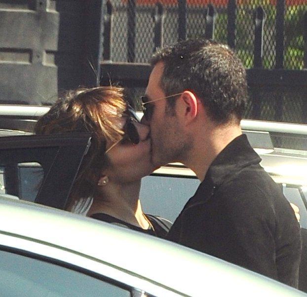 Katharine McPhee kissing Michael Morris
