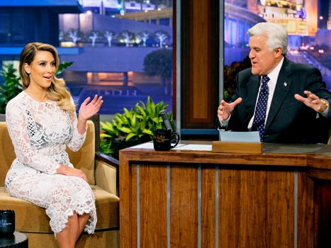 Kim Kardashian appears on Jay Leno's show.