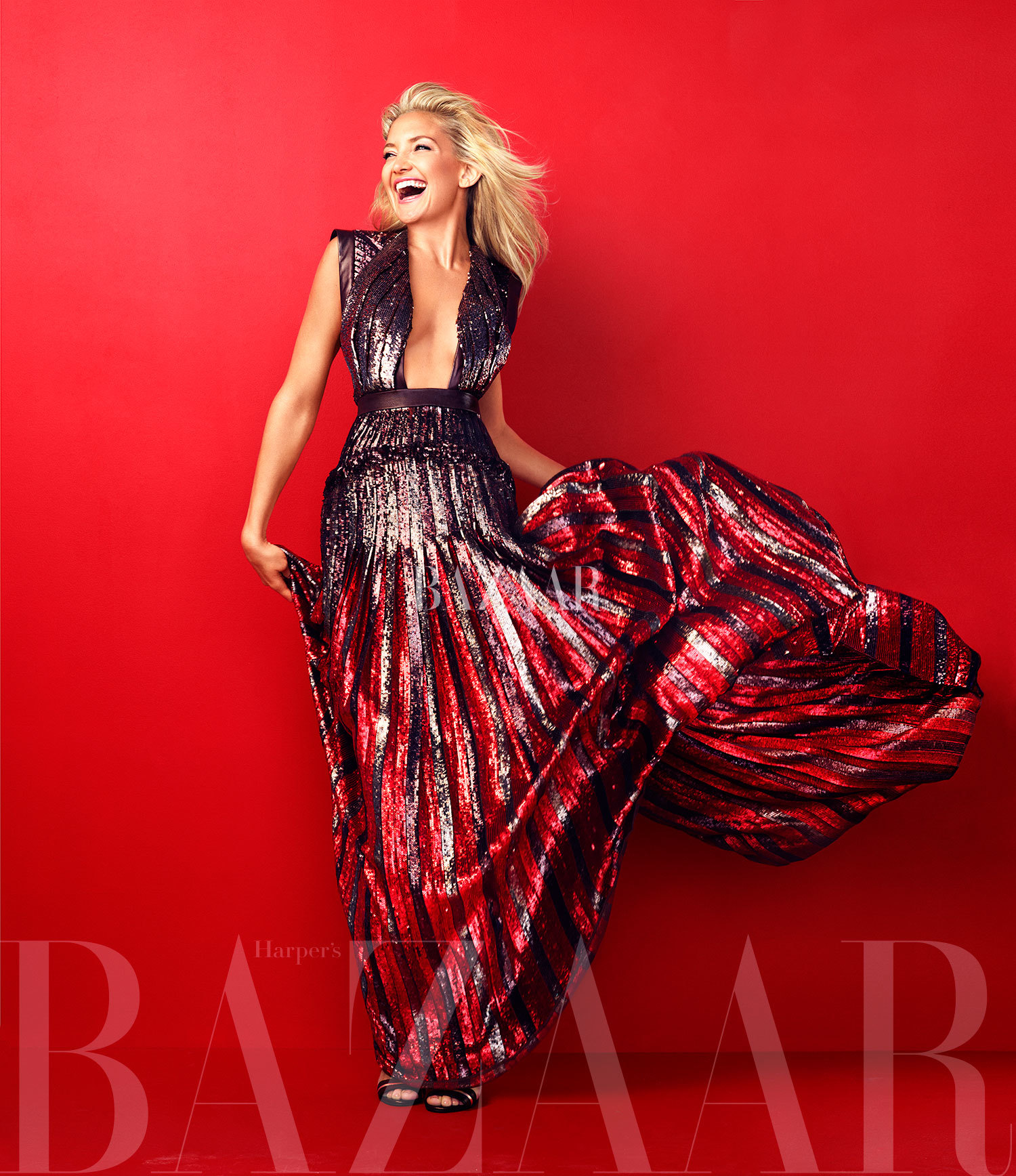 kate hudson red carpet harper's bazaar