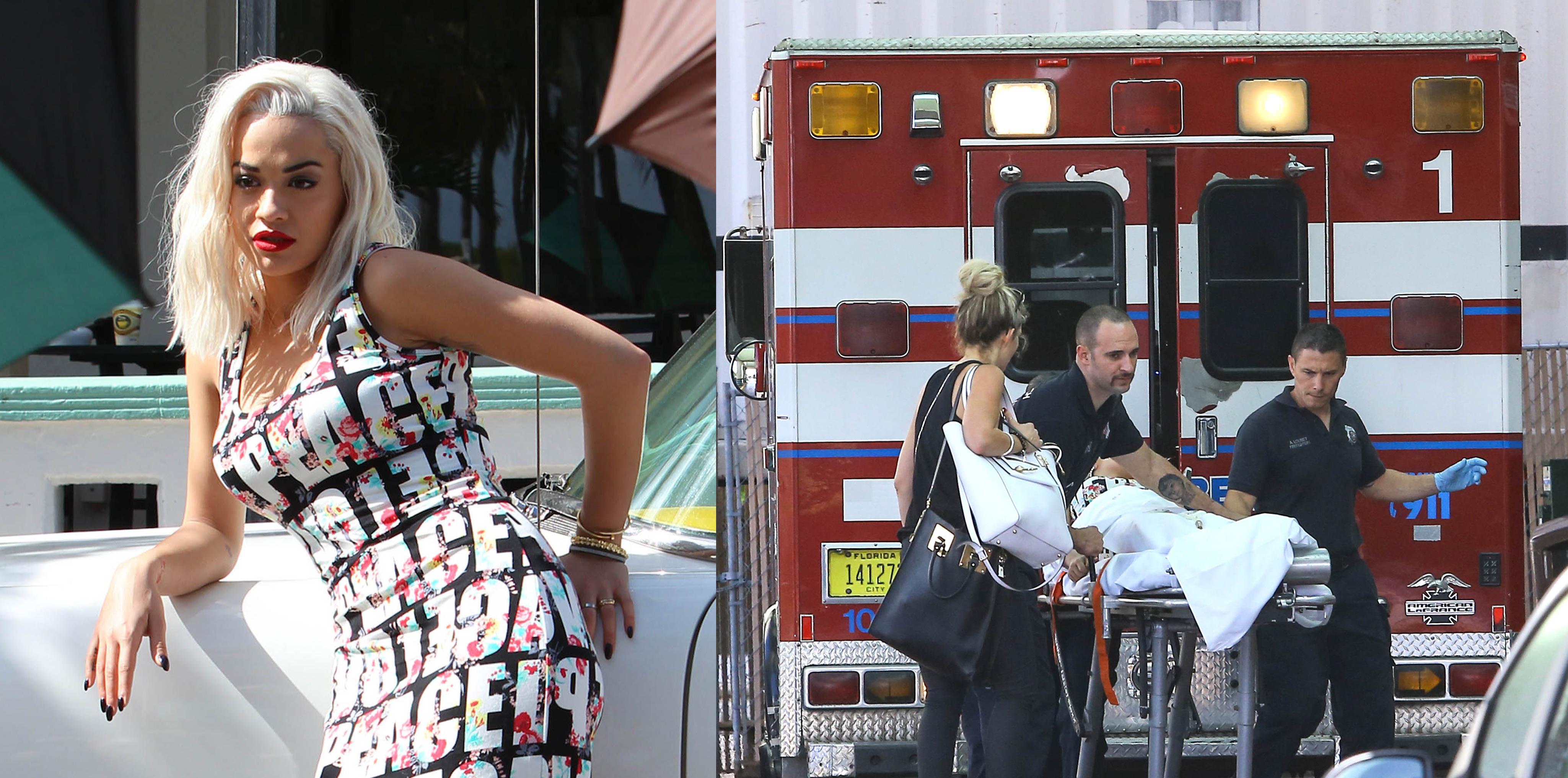 Rita Ora hospital