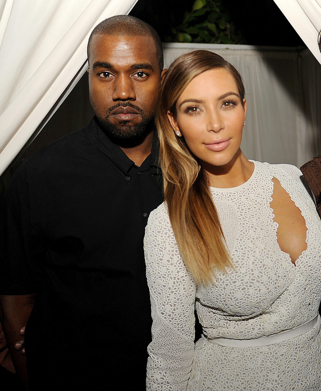 Kanye west kim kardashian art basel