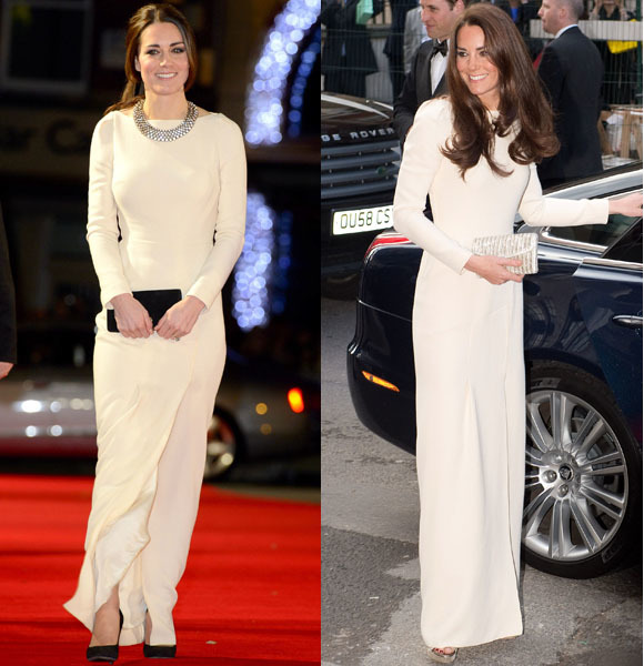 Duchess Kate recycles Roland Mouret gown