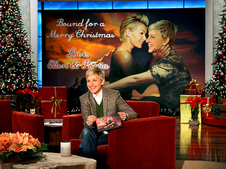 Ellen DeGeneres Christmas card Bound