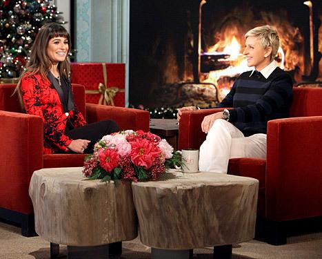 Lea Michele Ellen DeGeneres