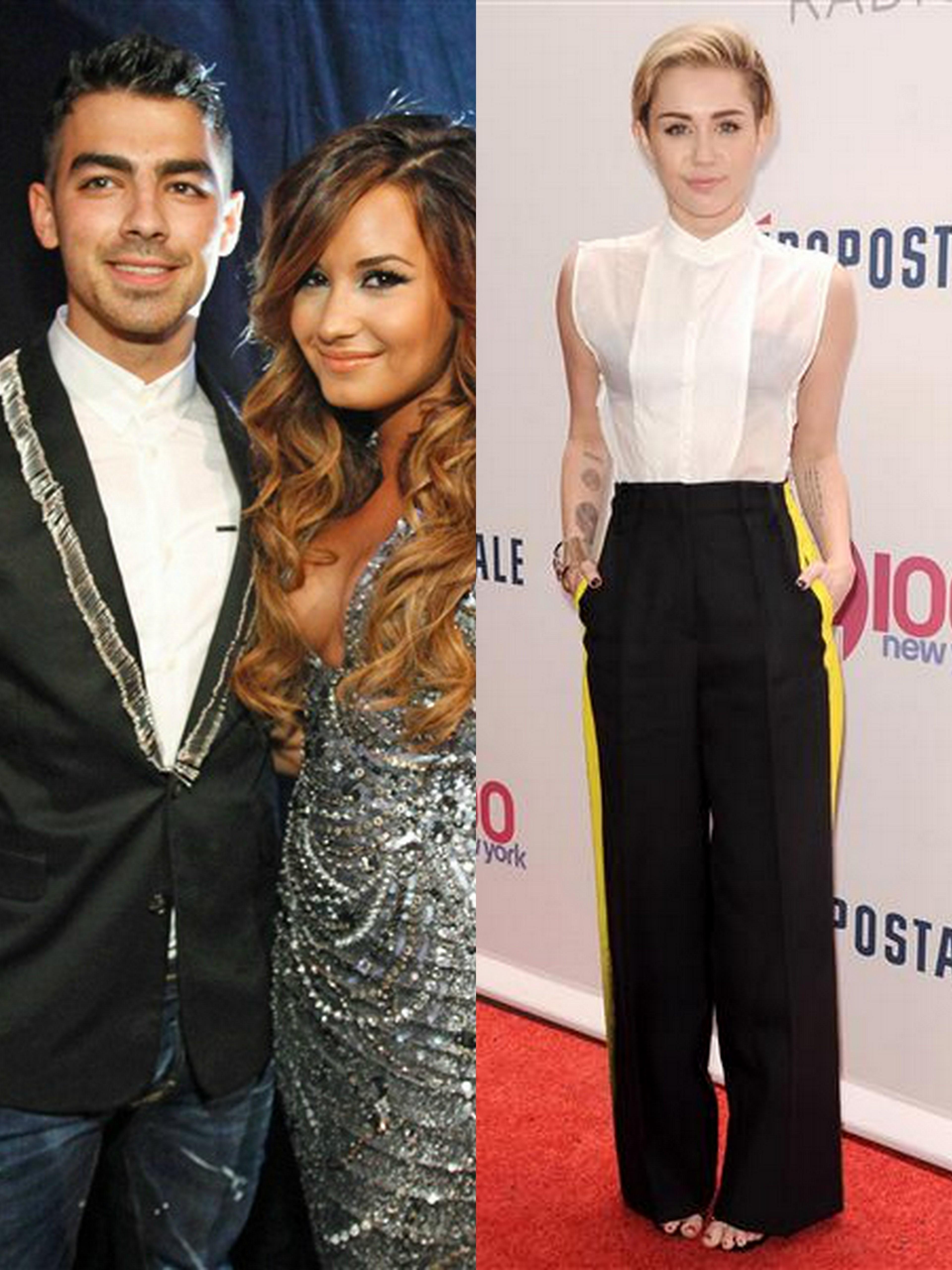 Joe Jonas Demi Lovato Miley Cyrus