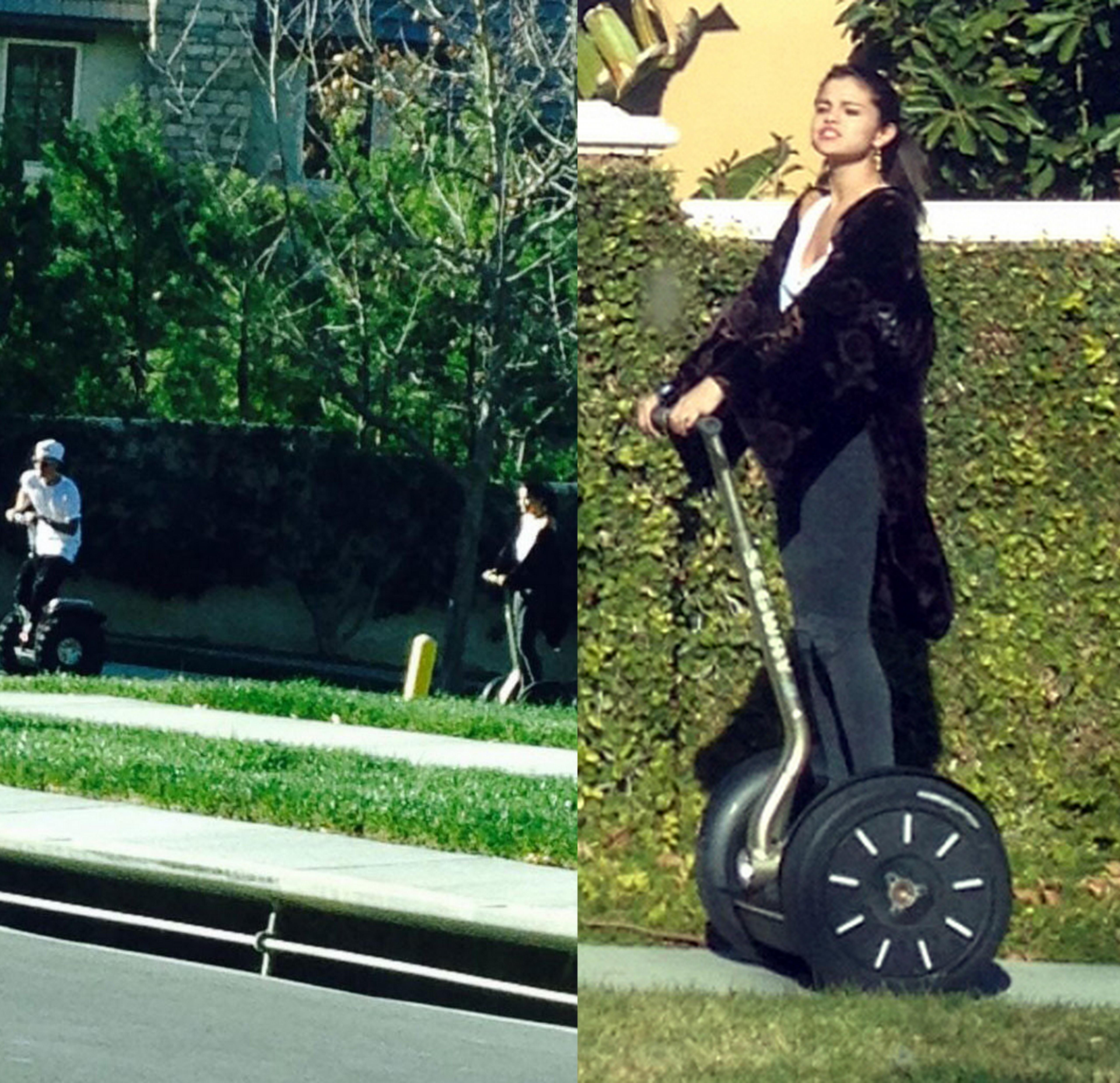 Justin Bieber Selena Gomez Segways