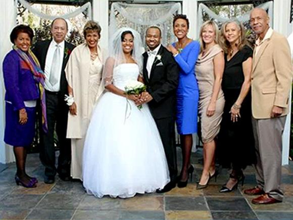 Robin Roberts wedding photo