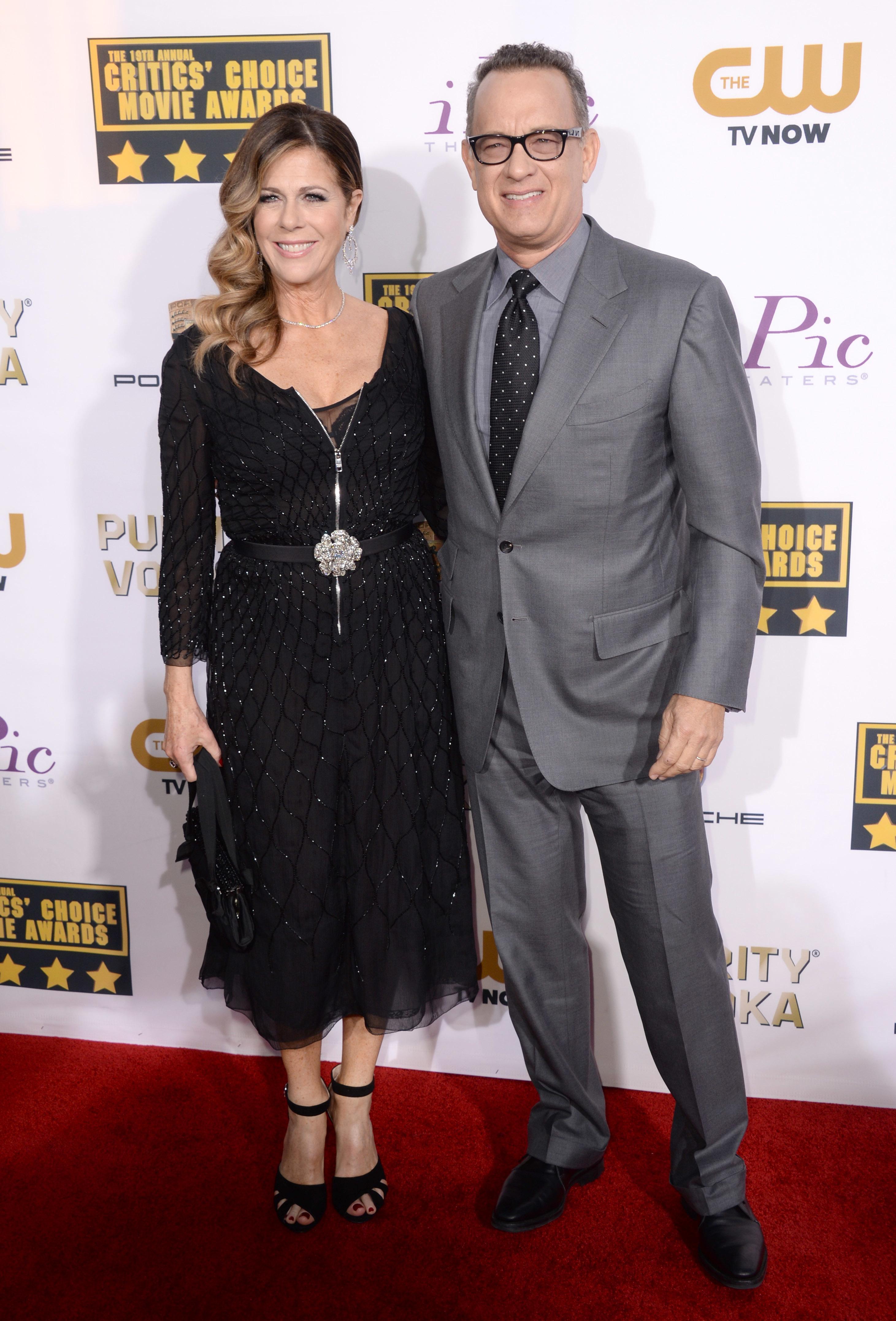 Rita Wilson Tom Hanks 2014 Critics Choice