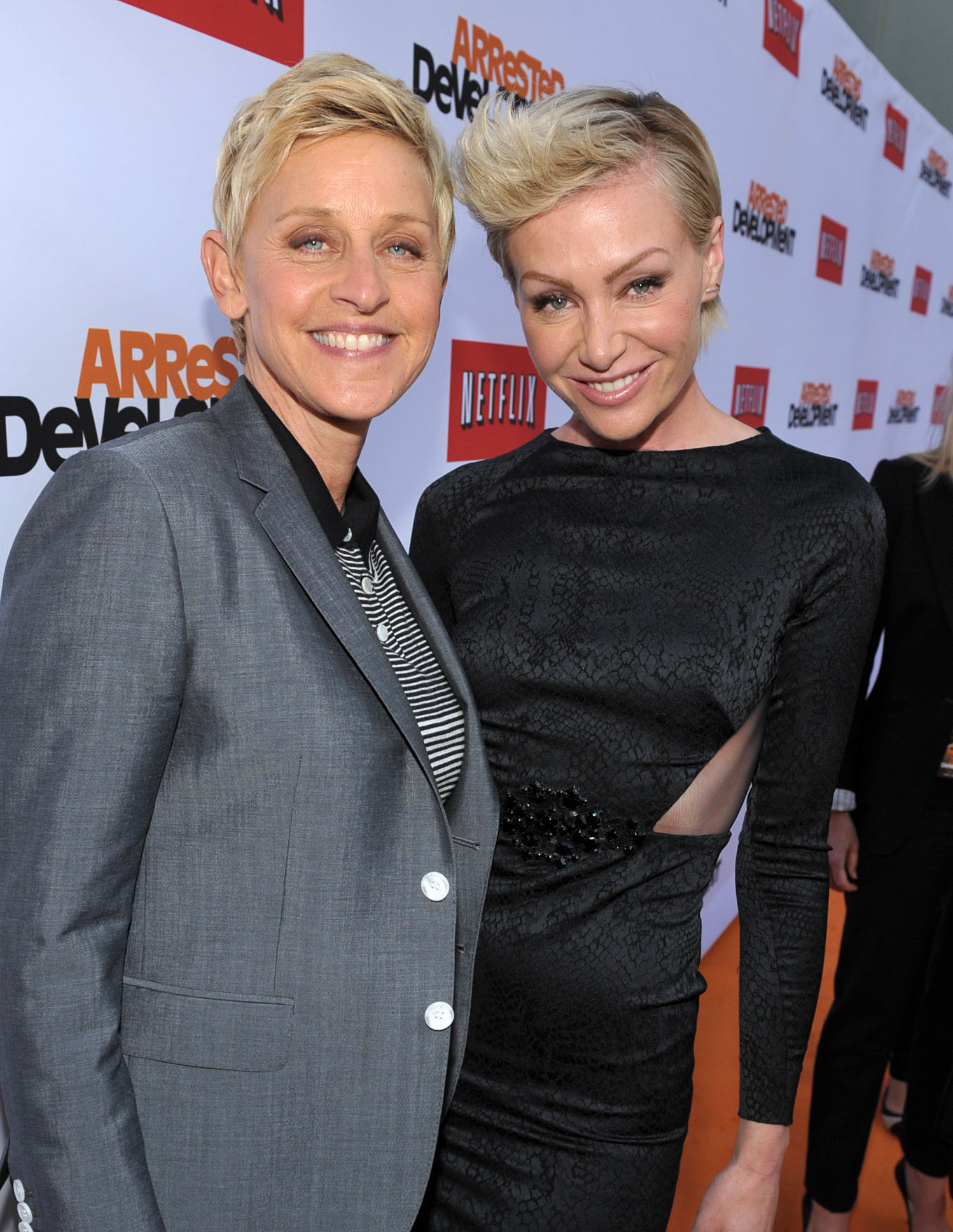 Ellen DeGeneres Portia DeRossi Arrested premiere