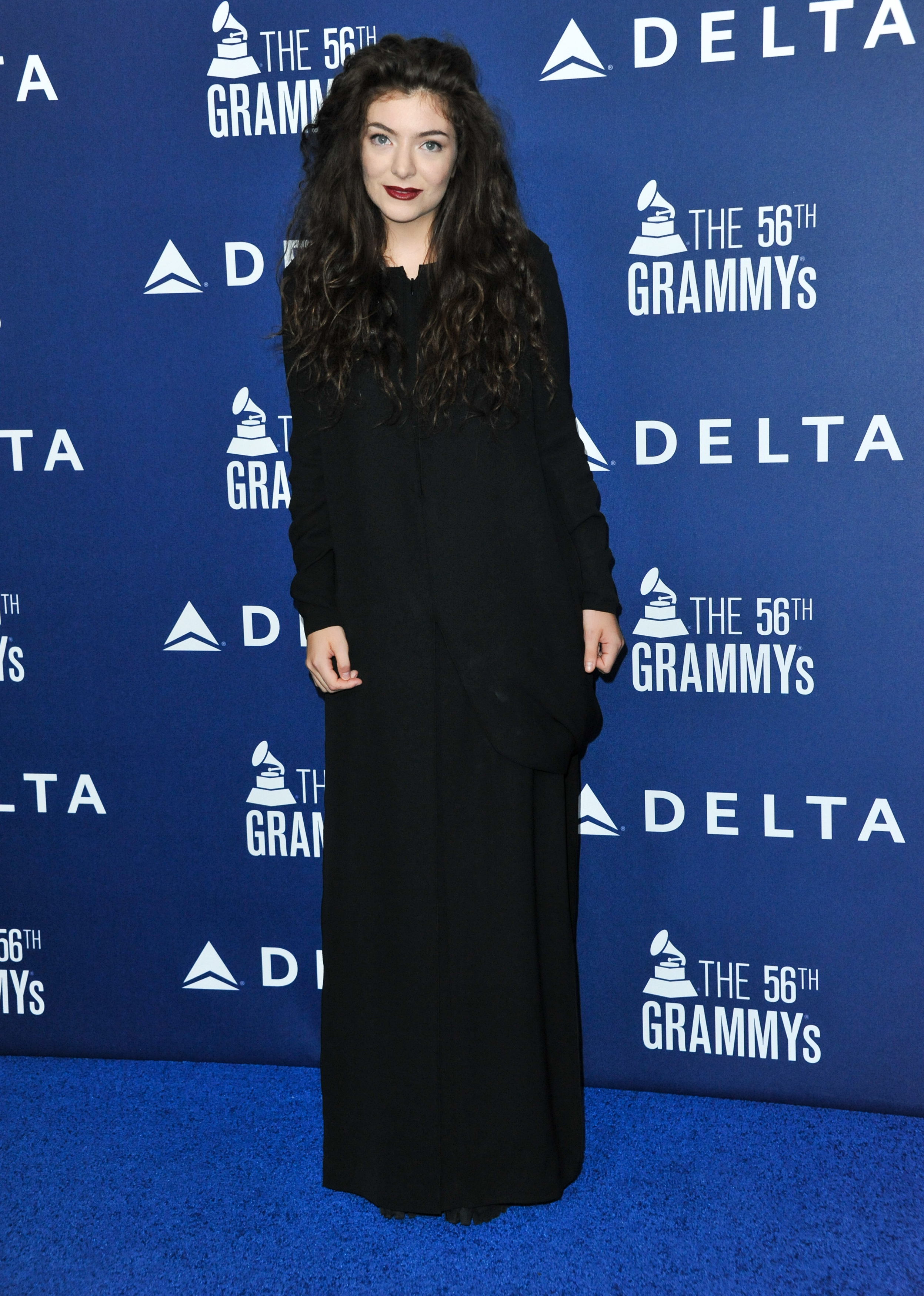 Lorde black dress