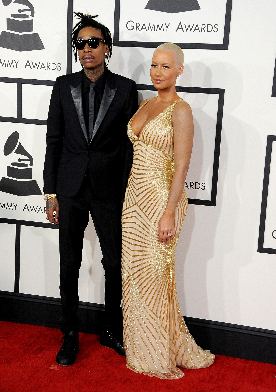 Wiz Khalifa Amber Rose Grammys 2014
