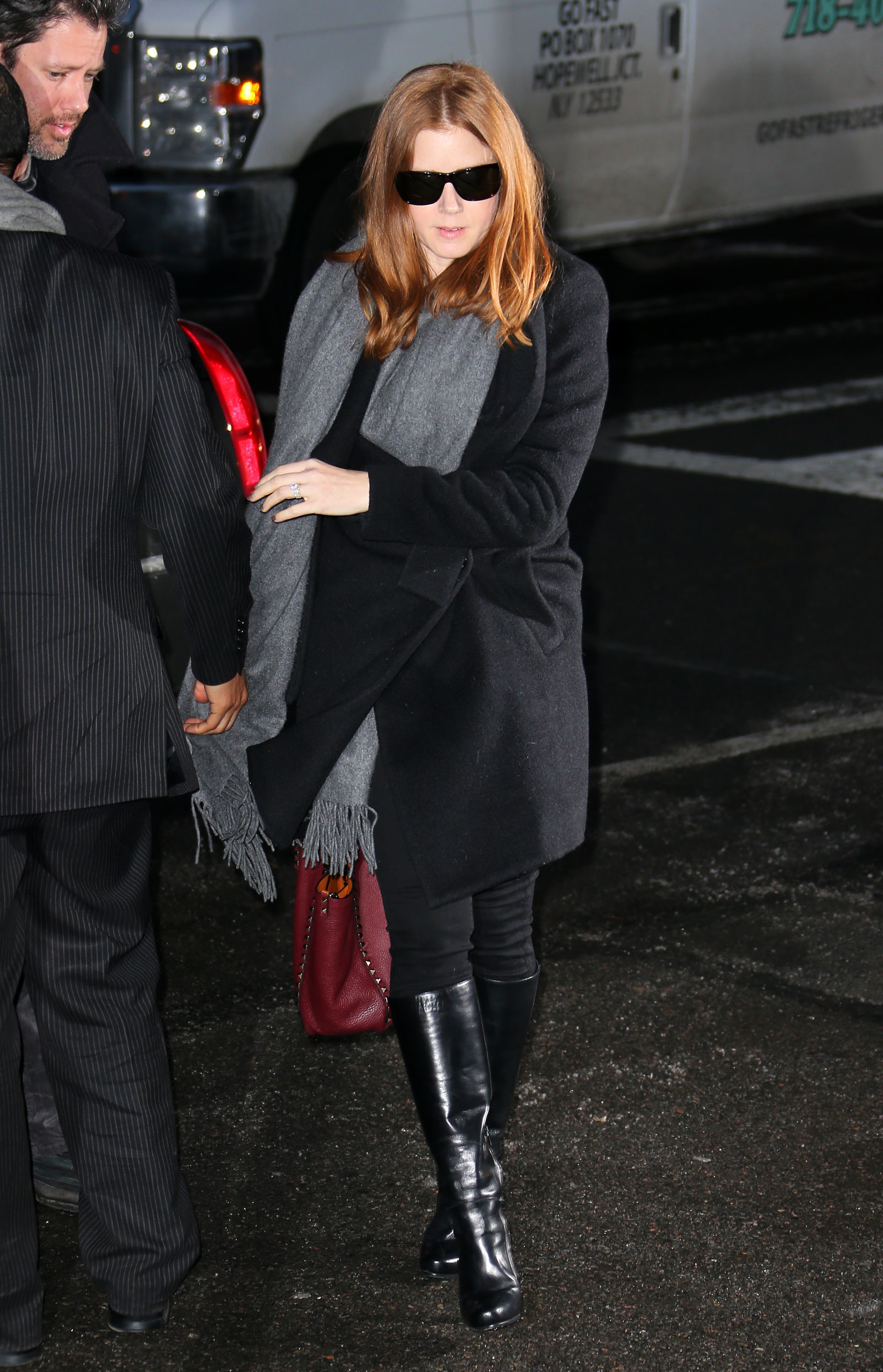 amy adams at philip seymour hoffman's wake