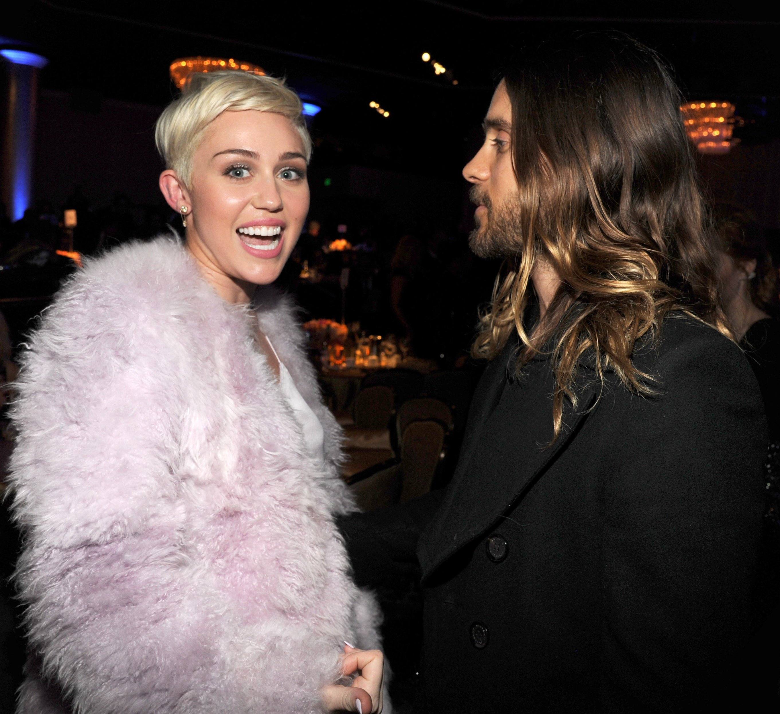 Miley Cyrus and Jared Leto