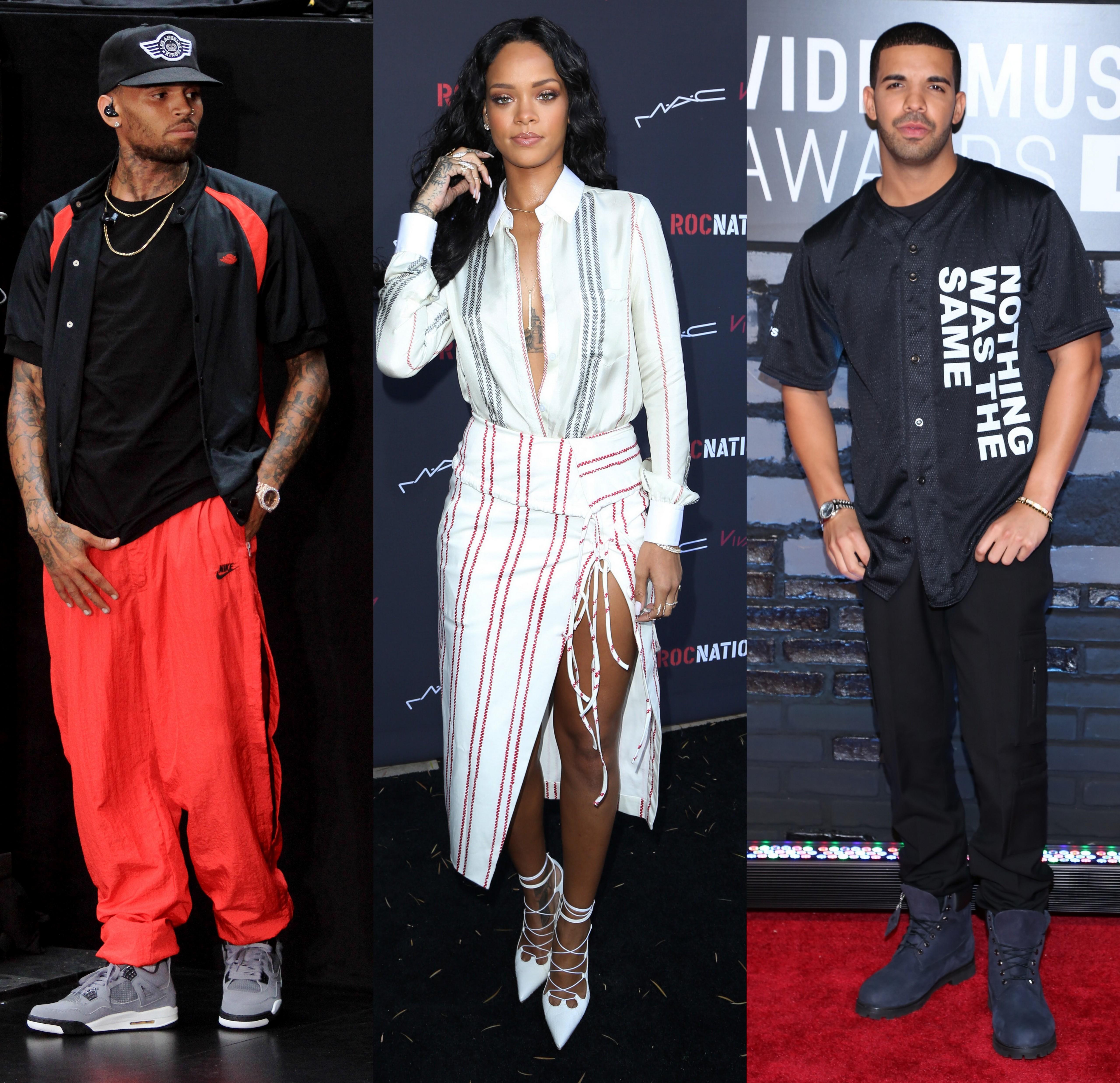 Rihanna Drake Chris Brown