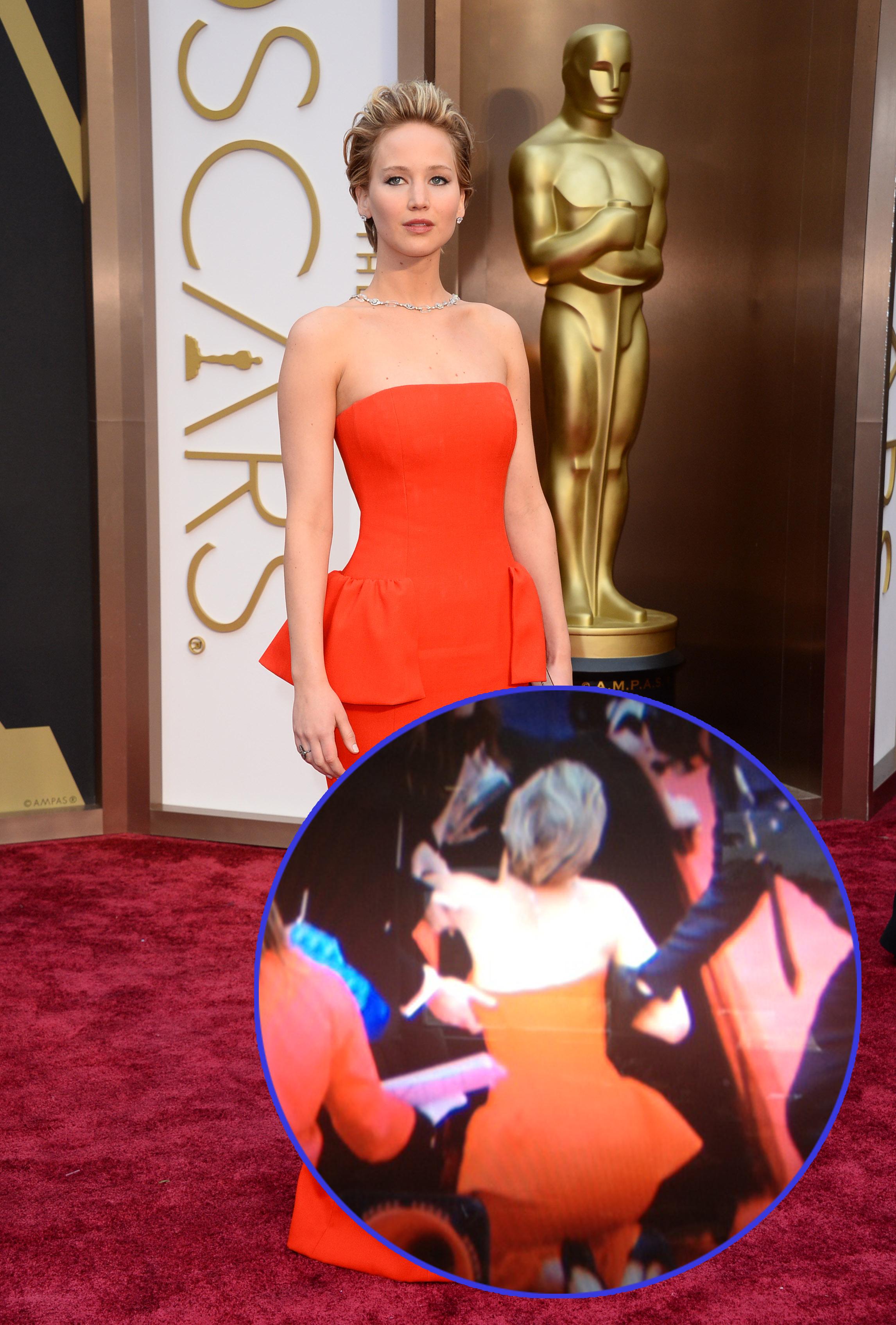 Jennifer Lawrence fall oscars