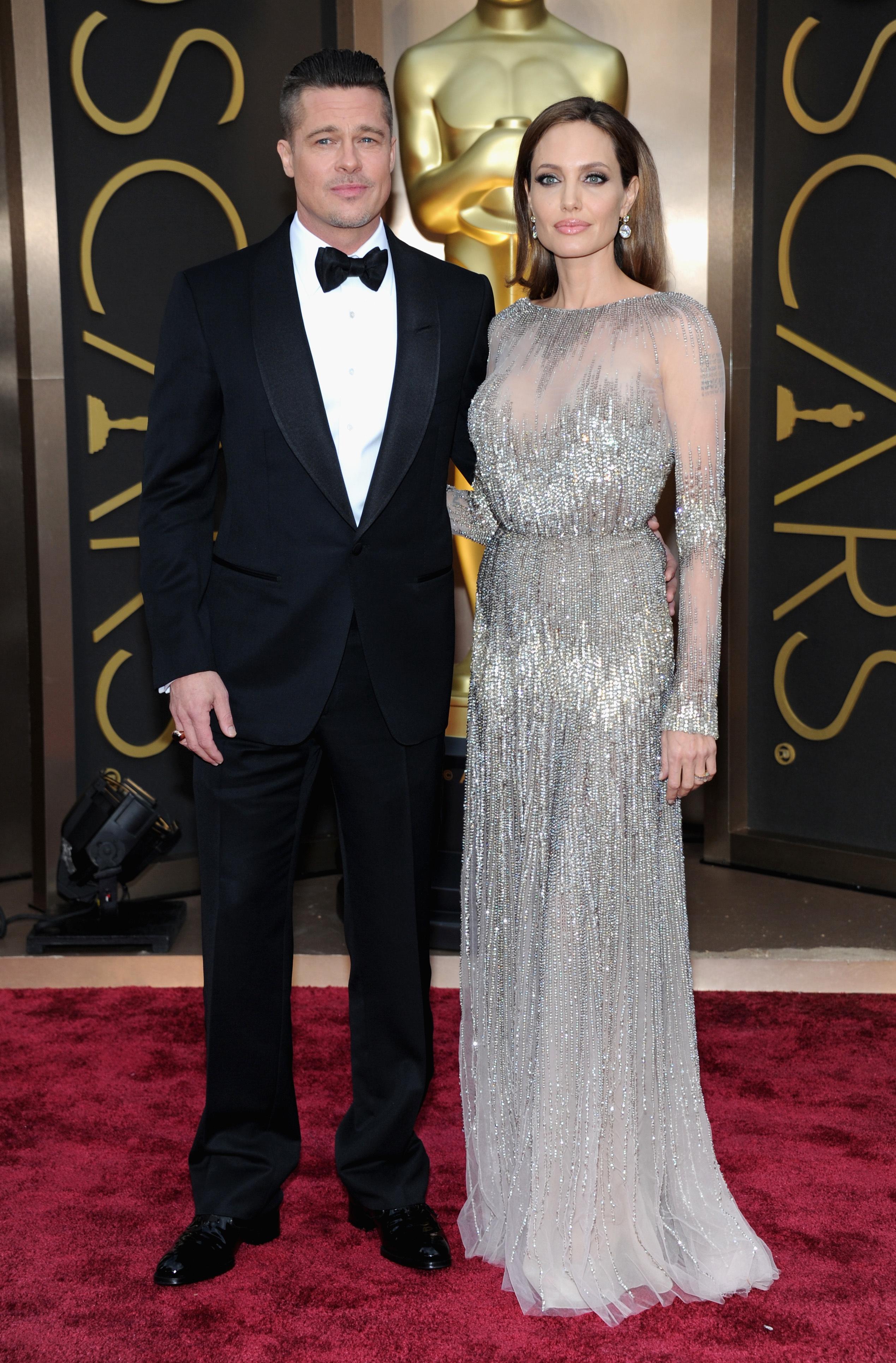 Brad Pitt Angelina Jolie Oscars 2014