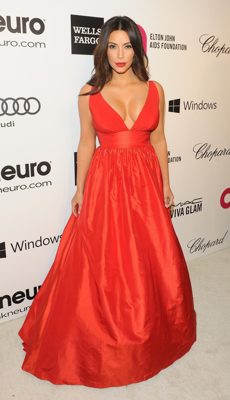 Kim Kardashian Elton John Oscars party